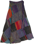 Groove Fall Wrap Around Skirt