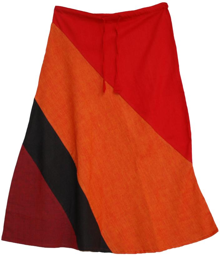 Patchwork Summer Skirt, 4 Colors Patchwork Hill Skirt