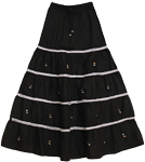 Bell-o-Rama Black Skirt with White Lace