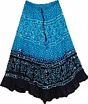 Ocean Tonal Sequin Long Skirt
