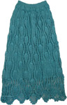 Elm Green Crochet Boho XS Long Skirt