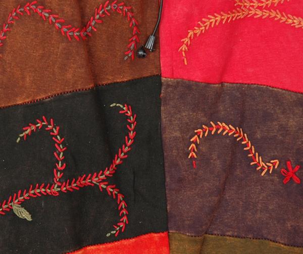 Hmong Bohemian Gypsy Embroidery Long Skirt