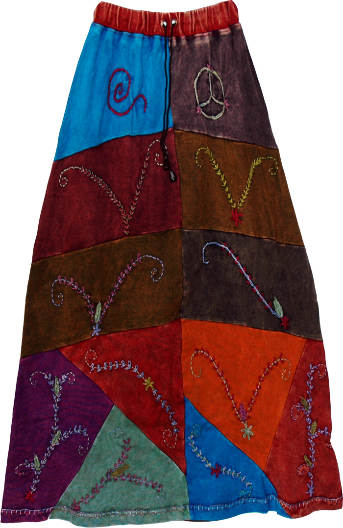 Lambani Tribal Patchwork long Skirt