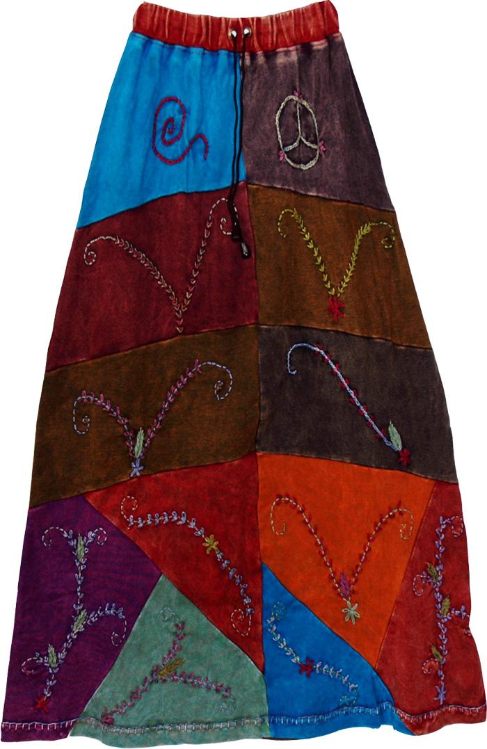 Lambani Tribal Patchwork Long Skirt Patchwork