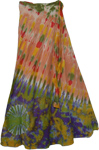 Careys Pink Tie Dye Wrap Long Skirt