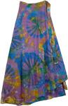 Pacifika Wrap Tie Dye Boho Long Skirt