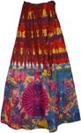 Indian Crater Brown Tie Dye  Long skirt  [2633]