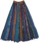 Barista Patchwork Cotton Frill Petite Skirt