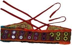 Maroon Oak Tribal Gypsy Mirror Belt