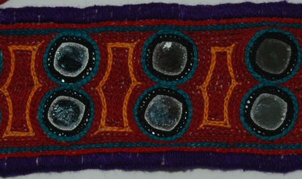 Aubergine Bohemian Gypsy Mirror Arm Band