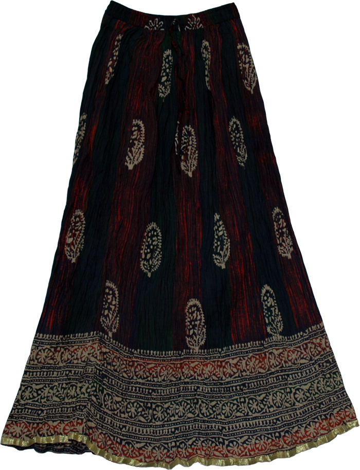 Rebel Tie Dye Crinkle Long Skirt
