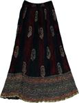Rebel Tie Dye Crinkle Long Skirt