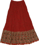 Thunderbird Long Skirt In Cotton Crinkle
