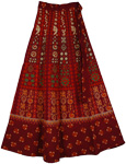 Earthy Wrap Around Skirt in Red Stiletto