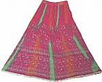 Arabian Princess Ethnic  Long Skirt in Dark Pink