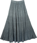 Light and Flowy Grey Shiny Summer Skirt [2776]