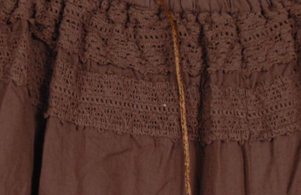 Groovy Split Skirt Saddle Brown