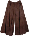 Groovy Split Skirt Saddle Brown