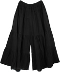 Groovy Culottes Split Skirt Black