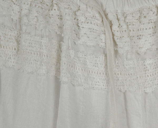 Groovy Gaucho Split White Skirt
