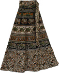 Jivaroan Long Wrap Around Skirt