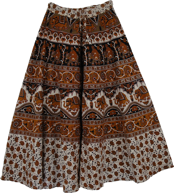 Long Patterned Skirt - Dress Ala
