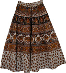 Urarina Long Cotton Printed Skirt