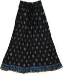 Classy Black Crinkled Skirt