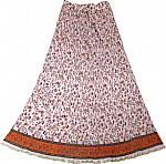 Pink Bohemian Women`s Long Skirt