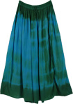 Dark Chiffon Tie Dye Long Skirt