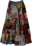 Ruby Patchwork Cotton Summer Skirt