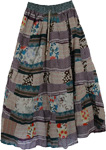 Amethyst Patchwork Womens Summer Skirt