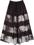 Black and White Tie Dye Skirt