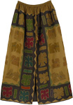 Exotic Applique Potters Clay Skirt