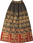 Very Bohemian Patchwork Cotton Long Skirt