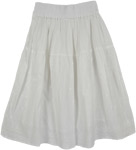 Snow Eyelet White Skirt