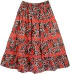 Coral Crochet Floral Skirt