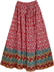 Red Sugar Cotton Long Skirt