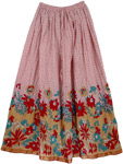 Cherry Polka Summer Long Skirt