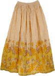 Yellow Summer Long Skirt