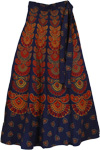 Flares Blue Gypsy Wrap Skirt