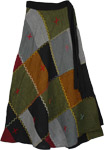 Yurok Colors Patchwork Skirt