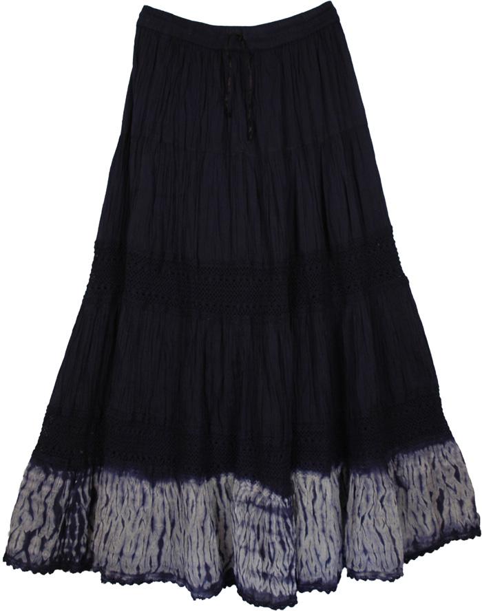 navy blue womens skirt clearance tie dye sale