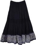 Classy Navy Blue Womens Skirt