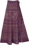Long Wrap Skirt Eggplant