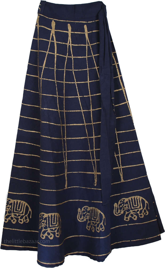 blue wrap indian skirt clothing sale on bags