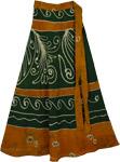 Peru Green Earth Wrap Skirt