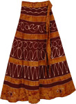 Glow Brown Wrap Long Skirt