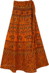 Orangina Long Tie Around Skirt