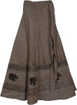 Brush Streaks Long Summer Skirt